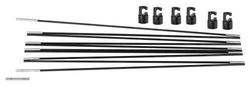Upper Bounce UBFGPCS-12 Universal Trampoline Fiber Glass Rods to Replace Top Ring of Net Enclosure for 12 ft. Frame - 6 Pole Caps Included