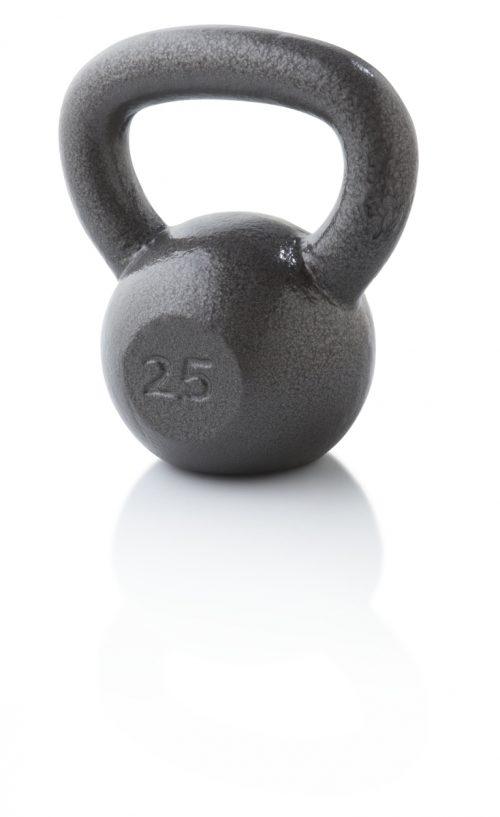Weider WGGKB2513 25 lbs Cast Iron Kettlebell Gray