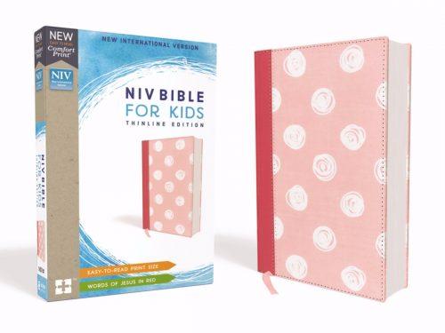 ZonderKidz 200424 NIV Bible for Kids Comfort Print - Pink Cloth Over Board