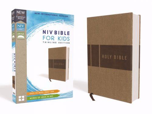 ZonderKidz 200426 NIV Bible for Kids Comfort Print - Tan Leathersoft