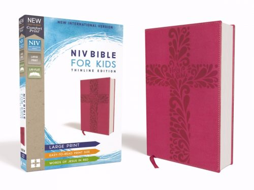 ZonderKidz 200427 NIV Bible for Kids Comfort Print & Large Print - Pink Leathersoft